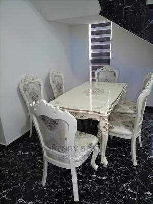Brand New Design Royal Wooden Dining Table With Six Chairs   Furniture for sale in Lagos State, Alimosho