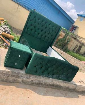Padded Bed Frame With a Bed Side | Furniture for sale in Lagos State, Ogba