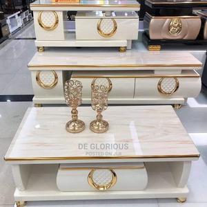 White Nd Gold TV Stand and Center Table | Furniture for sale in Lagos State, Lekki