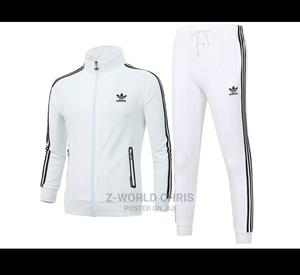 Adidas White Tracksuit Pants | Clothing for sale in Lagos State, Surulere