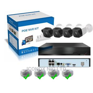 4 Channel POE NVR Infrared IP Camera Bullet 2MP CCTV Securit | Security & Surveillance for sale in Lagos State, Ikeja