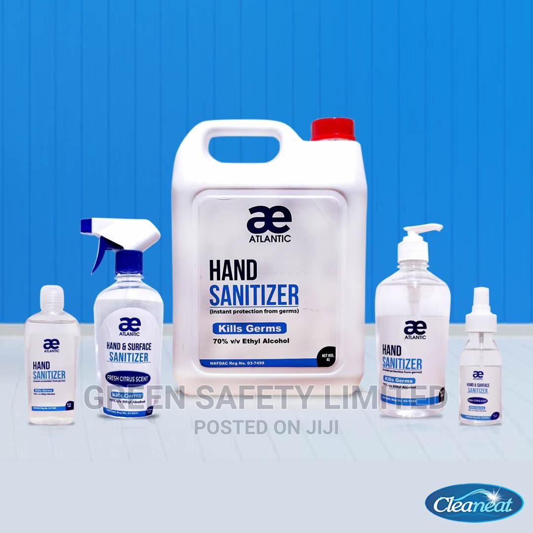 Ae Atlantic 500ml Sanitizer Carton of 12 Pcs | Skin Care for sale in Ikeja, Lagos State, Nigeria