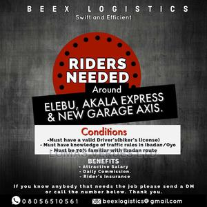 Logistics Rider Needed ! | Logistics Services for sale in Oyo State, Ibadan