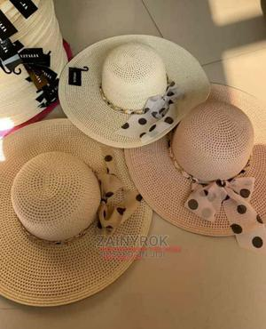 Letters Embroidery Straw Hat Large Summer Beach Sun Hat | Clothing Accessories for sale in Lagos State, Alimosho