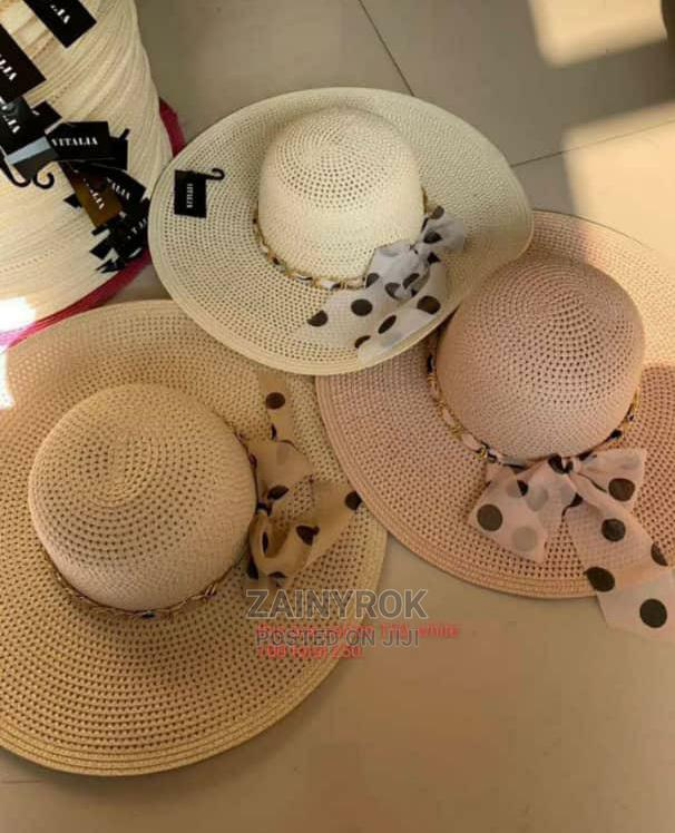 Letters Embroidery Straw Hat Large Summer Beach Sun Hat