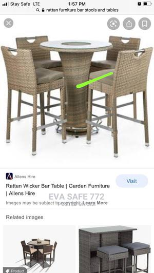 Rattan Bar Table and Chairs | Furniture for sale in Lagos State, Ojo