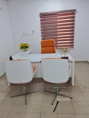 White Glass Executive Table and Chairs | Furniture for sale in Lagos State, Surulere