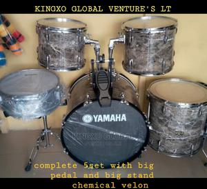 Yamaha 5sets Drum With Cymbal and Hi-Hat and Stand | Musical Instruments & Gear for sale in Lagos State, Ojo