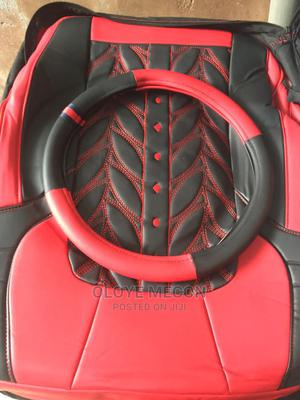 Red and Black Leather Seat Cover   Vehicle Parts & Accessories for sale in Anambra State, Nnewi