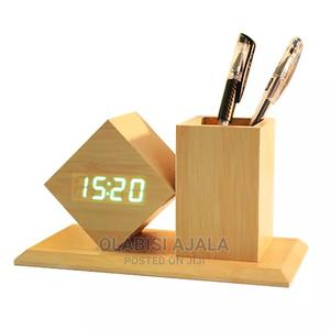 Wooden Clock and Pen Holder | Home Accessories for sale in Lagos State, Ajah