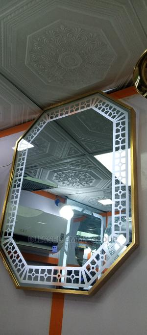 L E D Mirror, With Thick Frame Round It | Home Accessories for sale in Lagos State, Orile