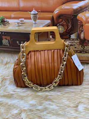 New Quality Female Brown Leather Handbag | Bags for sale in Lagos State, Isolo