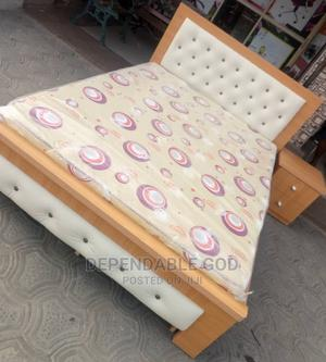 High Quality 4/12 by 6 Bed With 1 Side Stool and Mattress | Furniture for sale in Lagos State, Maryland