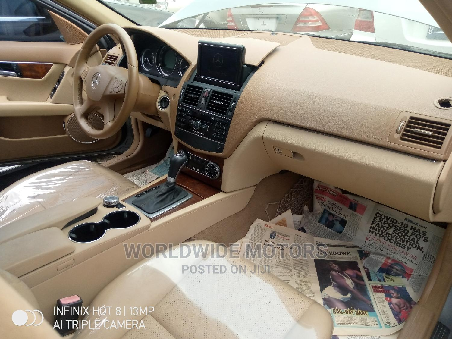 Mercedes-Benz C300 2009 Gray | Cars for sale in Apapa, Lagos State, Nigeria