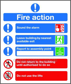 Fire Action Sign 300 X 400 Mm | Safetywear & Equipment for sale in Lagos State, Ikeja