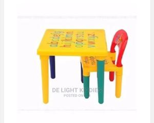 Kiddies a B C Plastic Table and Chair   Children's Furniture for sale in Abuja (FCT) State, Nyanya