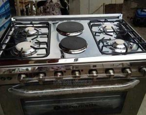 Quality Newcastle 4gas 2electric Auto Ignition Oven Grill | Kitchen Appliances for sale in Lagos State, Ojo