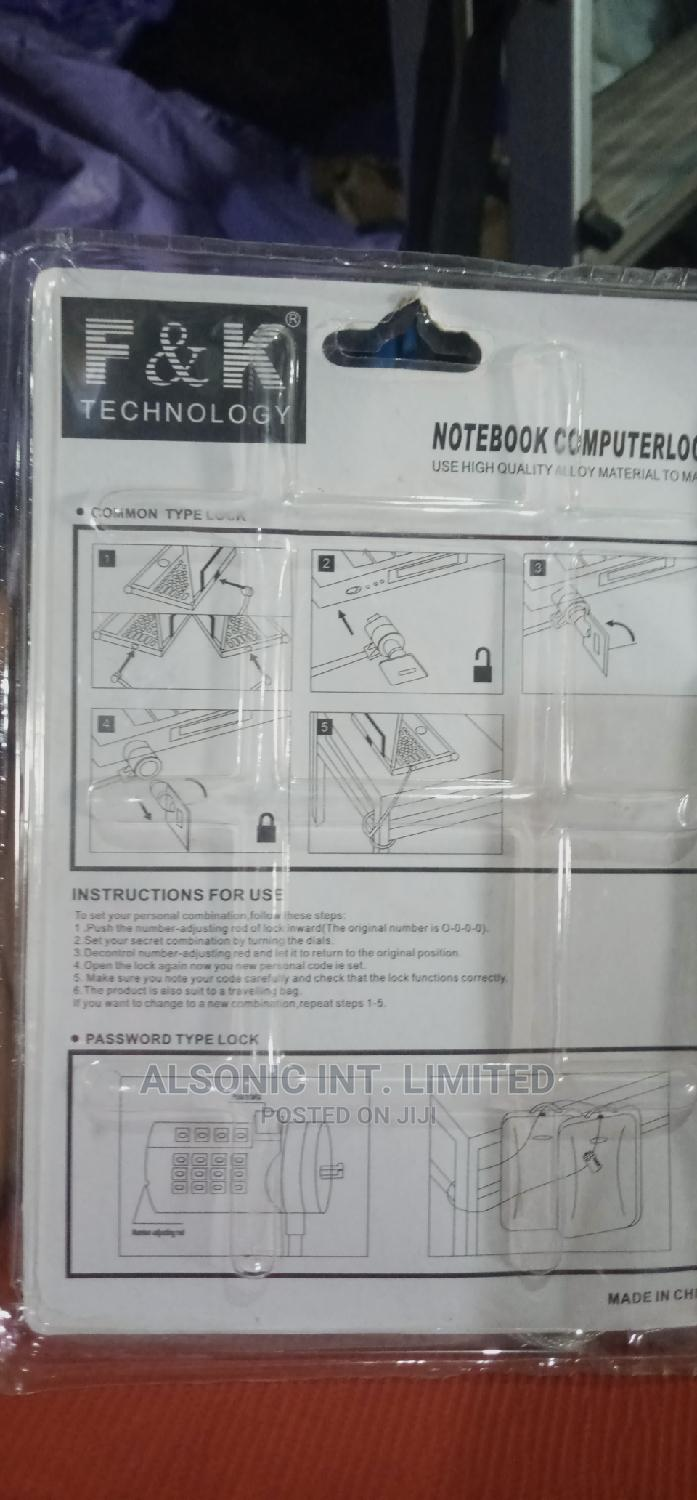 Laptop Lock | Computer Accessories  for sale in Wuse, Abuja (FCT) State, Nigeria