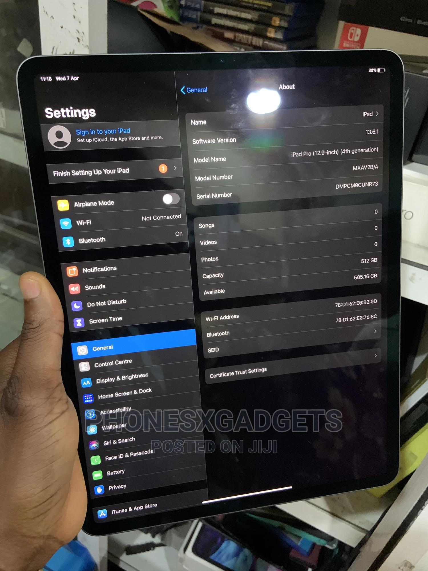 Apple iPad Pro 12.9 (2020) 512 GB   Tablets for sale in Ikeja, Lagos State, Nigeria