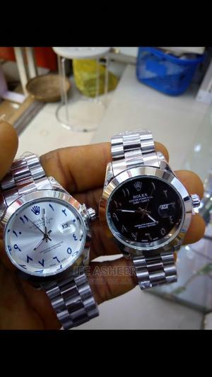 Rolex Silver Arabic Numeral Wrist Watch - Silver | Watches for sale in Lagos State, Ojodu