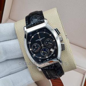 Vacheron Chronograph Silver Leather Strap Watch | Watches for sale in Lagos State, Lagos Island (Eko)