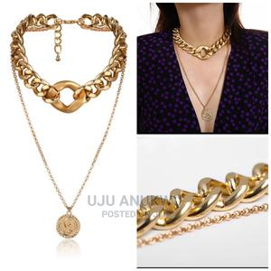 Women Double Layer Fashion Bold Necklace/ Choker | Jewelry for sale in Lagos State, Ikeja
