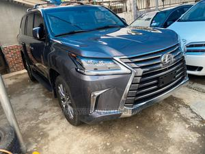 Lexus LX 2018 570 Three-Row Gray | Cars for sale in Lagos State, Surulere