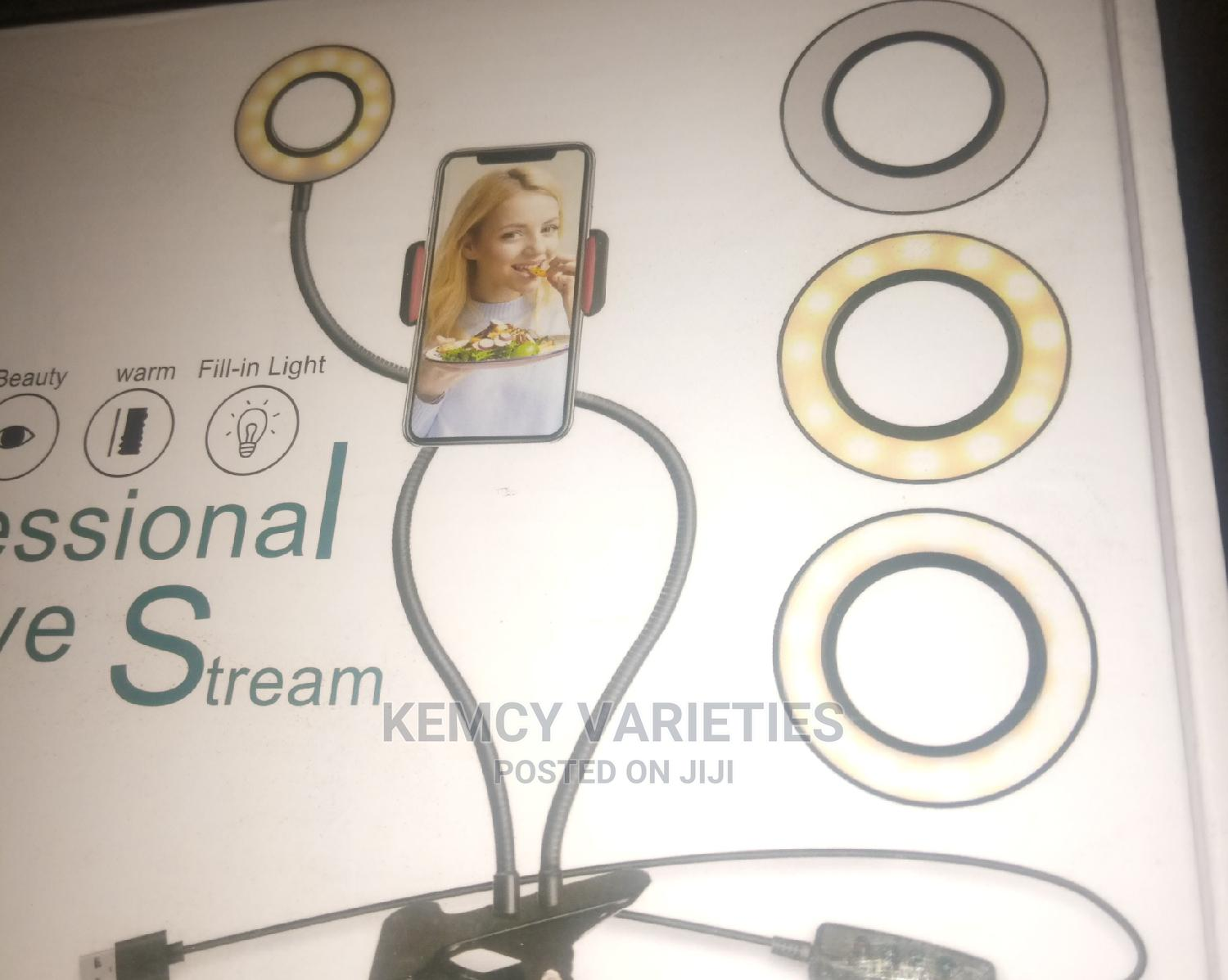 Selfie Ring Light With Cell Phone Holder | Accessories for Mobile Phones & Tablets for sale in Abule Egba, Lagos State, Nigeria