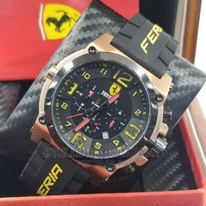 Ferrari Rubber Strap Wristwatch With Chronograph | Watches for sale in Lagos State, Lagos Island (Eko)