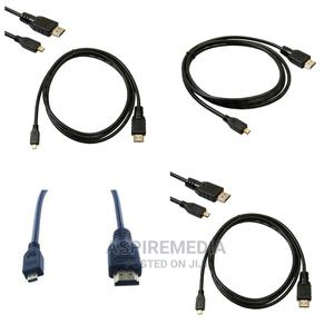 Micro HDMI to HDMI Cable 1080p 4K 2 Meter Black   Computer Accessories  for sale in Lagos State, Alimosho