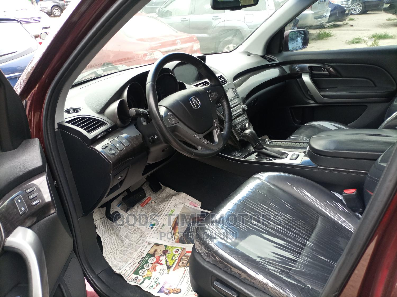 Acura MDX 2008 SUV 4dr AWD (3.7 6cyl 5A) Red | Cars for sale in Apapa, Lagos State, Nigeria