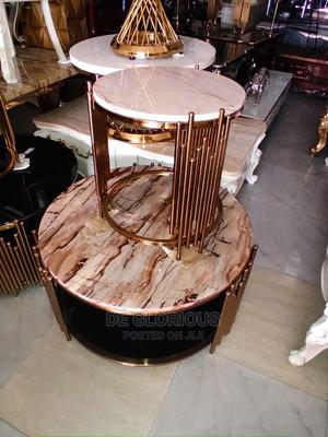 Round Rose Gold Center Table | Furniture for sale in Lagos State, Victoria Island