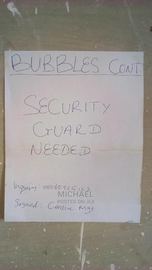 Security Guard wanted   Security Jobs for sale in Abuja (FCT) State, Jabi