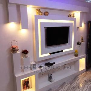 Pop Ceiling Tv Wall Unit Interior Design | Building & Trades Services for sale in Lagos State, Maryland
