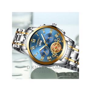 Fngeen Double Calendar Waterproof Quartz Men's Watch | Watches for sale in Lagos State, Alimosho