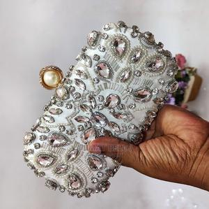 Rhinestone Clutch Purse Silver | Bags for sale in Lagos State, Agboyi/Ketu