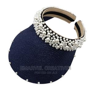 Summer Women Pearl Headband Hat Raffia Visor Caps for Beach | Clothing Accessories for sale in Lagos State, Surulere