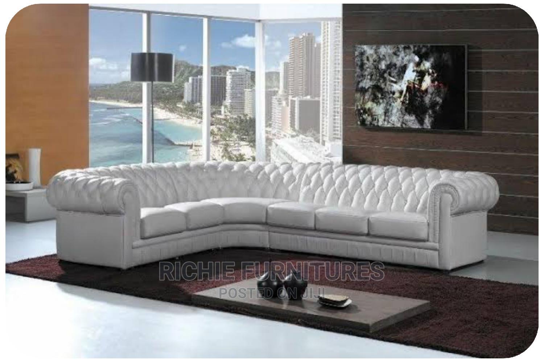 Uniquely Designed Corner Cream Couch