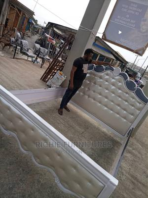 6 by 6 White Executive Bed Frame   Furniture for sale in Lagos State, Ogba