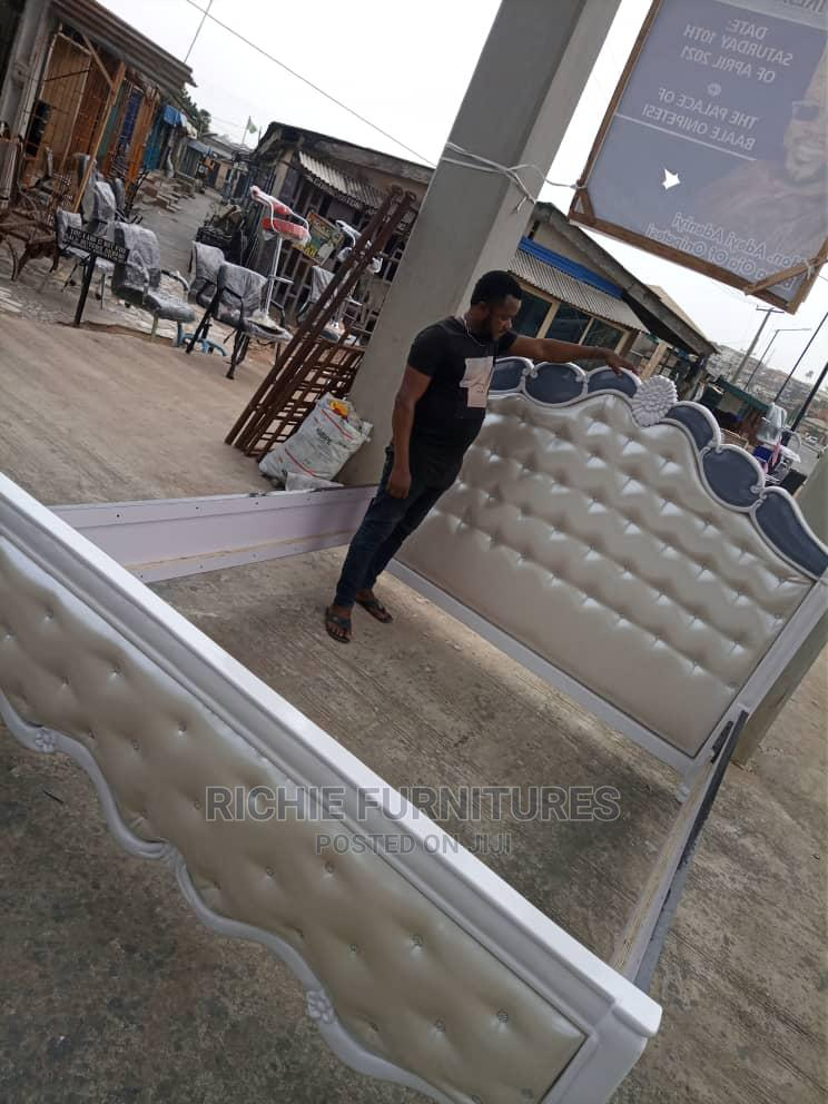 6 by 6 White Executive Bed Frame