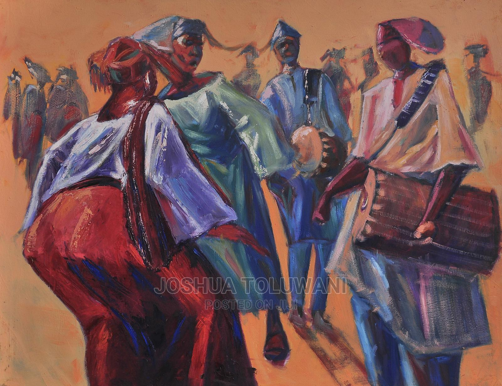 Archive: Oil on Canvas Painting - Owambe
