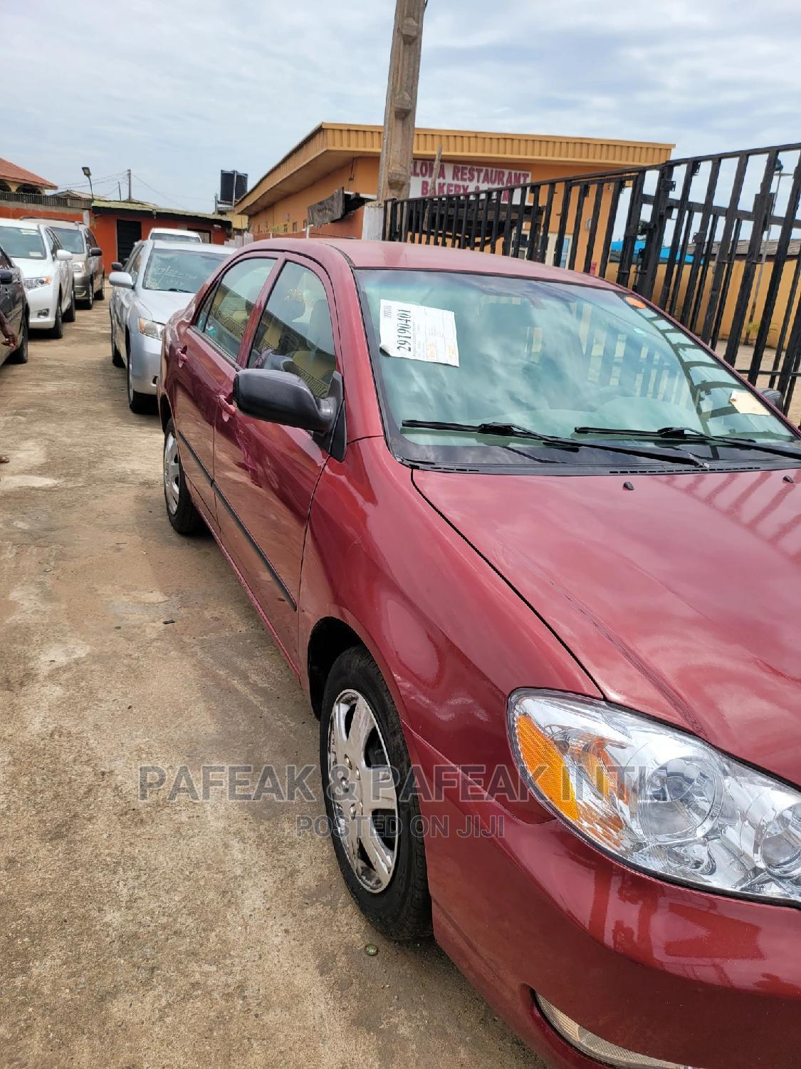 Toyota Corolla 2007 Red | Cars for sale in Alimosho, Lagos State, Nigeria