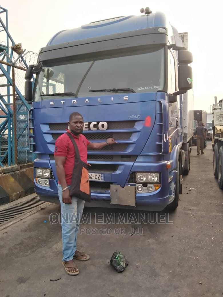 Archive: Iveco Trailer With 40ft Cargo Container