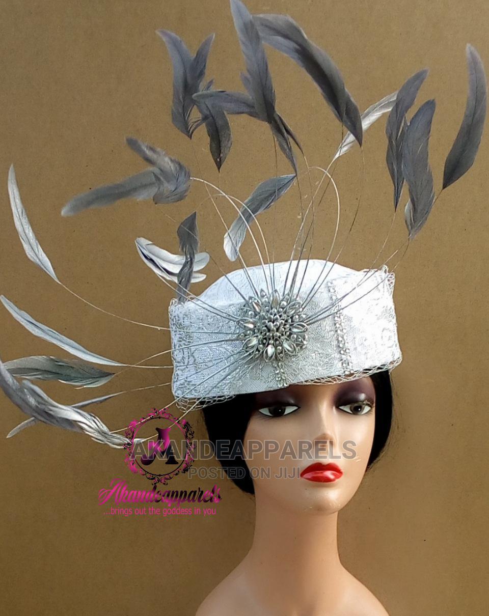 Silver White Crown Fascinator