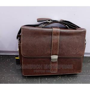 Brown Genuine Leather Mens Handbag   Bags for sale in Lagos State, Lagos Island (Eko)