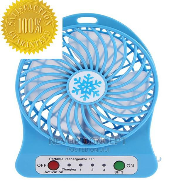 Universal Portable Mini Rechargeable Fan- Black, Blue   Home Appliances for sale in Agege, Lagos State, Nigeria