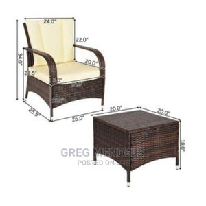 Costway 3PCS Outdoor Patio Rattan Wicker Furniture Set   Furniture for sale in Lagos State, Ikeja