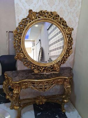 Royal Console Round Mirror With Table   Furniture for sale in Lagos State, Ajah