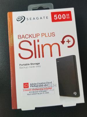 Seagate 500gb Portable Storage External Backup Plus Slim | Computer Hardware for sale in Lagos State, Ikeja