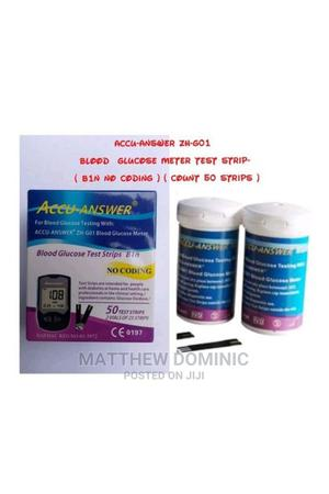 Glucose Glucometer Test Strip (Count 50) B1n Accu-Answer | Medical Supplies & Equipment for sale in Rivers State, Port-Harcourt
